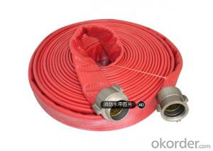 Double jackets rubber fire hose for fire fighting equipment