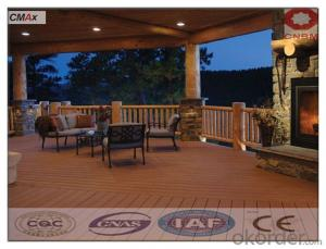 Wpc Deck Tile Solid And Grooved Waterproof Garden