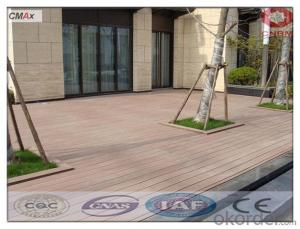 Wood Plastic Composite Decking DIY Tile Interlock Terrace WPC Decking Tile