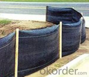Silt Fence with Wooden Stake/Weed Barrier Fabric/Woven Fabric