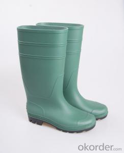 PVC Rubber Safety Boots with Steel Toe and Insole