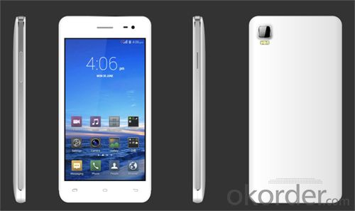 High-end 4.5 inch Quad core Smartphone with front camera 0.3MP and rear 5.0MP