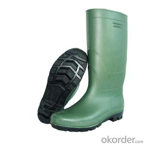 Green PVC Industrial Safety Boots with Steel Sole Steel Toe Cap Safety Boot