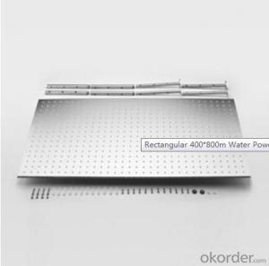 Rectangular 400*800m Water Power Color Change LED Shower Head Set