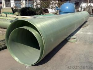 GRP FRP Pipe Fiberglass Reinforced Plastic Pipe for Sewage Water