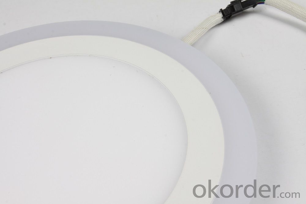 LED TWO COLOR PANEL LIGHT 6+3 W ROUND SHAPE RECESSED BLUE AND COLD WHITE