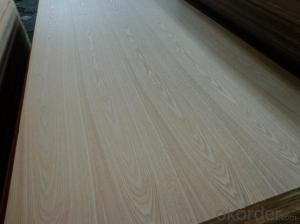 Red Oak Veneered MDF Panels Wood grain is flower