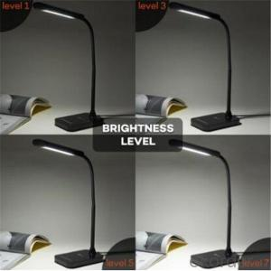 LED Desk Lamp, Gooseneck Table Lamp 7W Touch Control 7 Brightness Modes