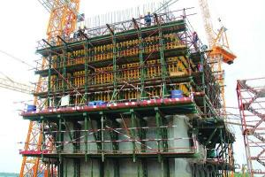 Hydraulic equipment with Auto-climbing Formwork in construction China