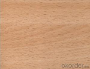 Red Beech Veneered MDF Panels in Red Color