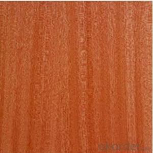 Sliced cutting Sapele Veneered MDF Panels Wood grain is straight