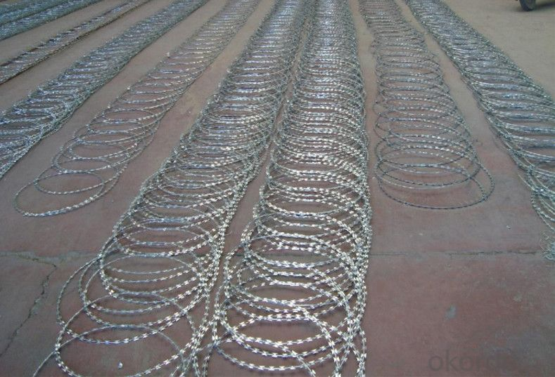 Galvanized Razor Barbed Wire for Airport, Building