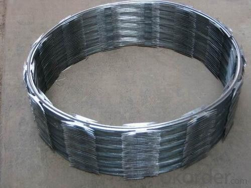 Galvanized or Stainless Steel Razor Barbed Wire