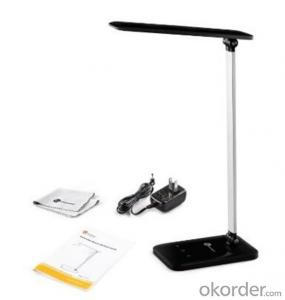 LED Desk Lamp Dimmable with Glossy White