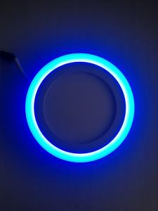 LED PANEL LIGHT DOUBLE 18 AND 6 W COLOR ROUND  SHAPE RECESSED TYPE BLUE AND 6000K