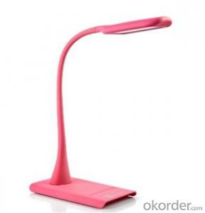Pink LED Desk Lamp with  Flexible Neck 9w