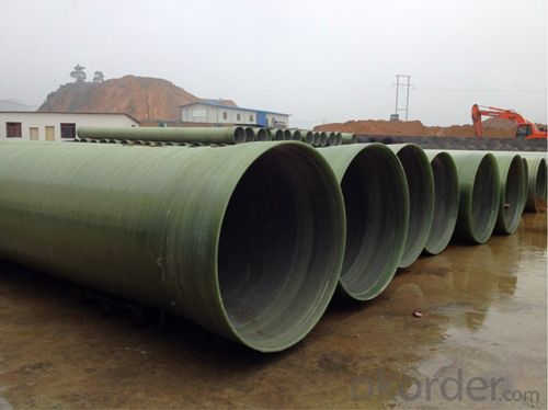 FRP Pipes Filament Winding FRP Pipe with Sand Filler