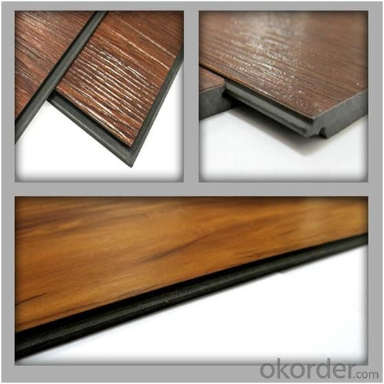 luxury 4mm~5mm click system pvc flooring within fiber glass high quality