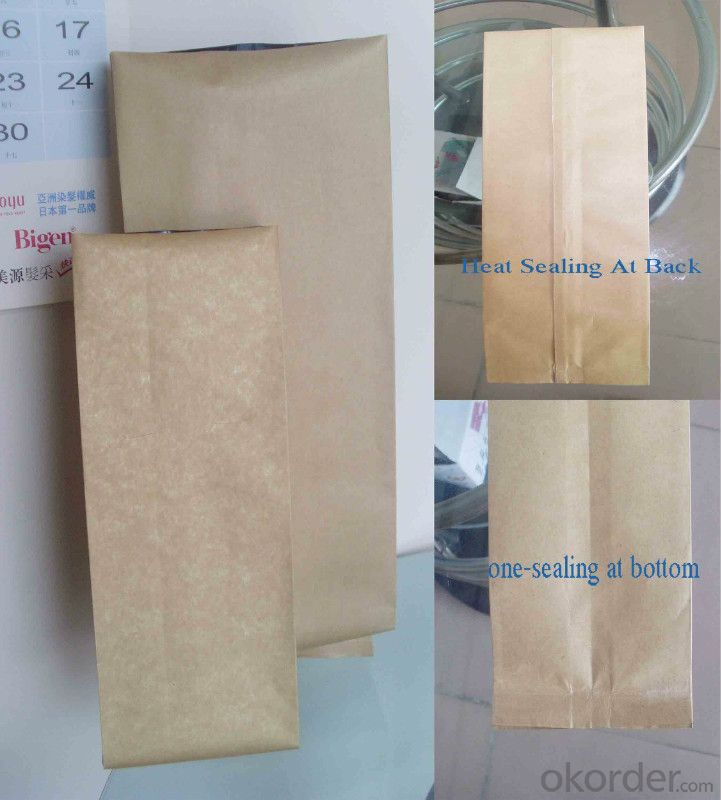 Metalized Plastic Packing film Laminted with Brown Craft Paper for Packing