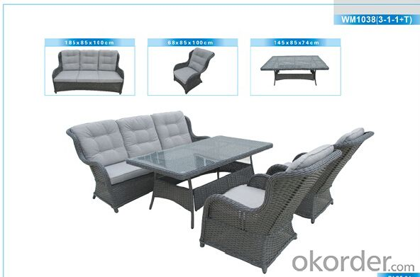 Outdoor Furniture Rattan Sofa CMAX-WM1038(3-1-1+T)