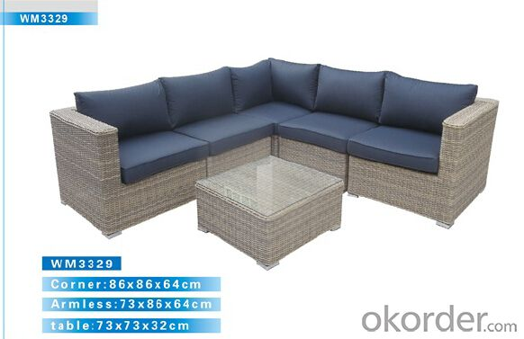 Outdoor Furniture Rattan Sofa CMAX-WM3329