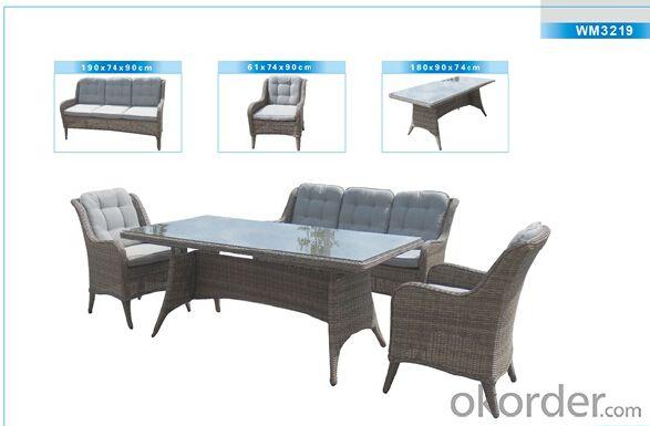 Outdoor Furniture Rattan Sofa CMAX-WM3219