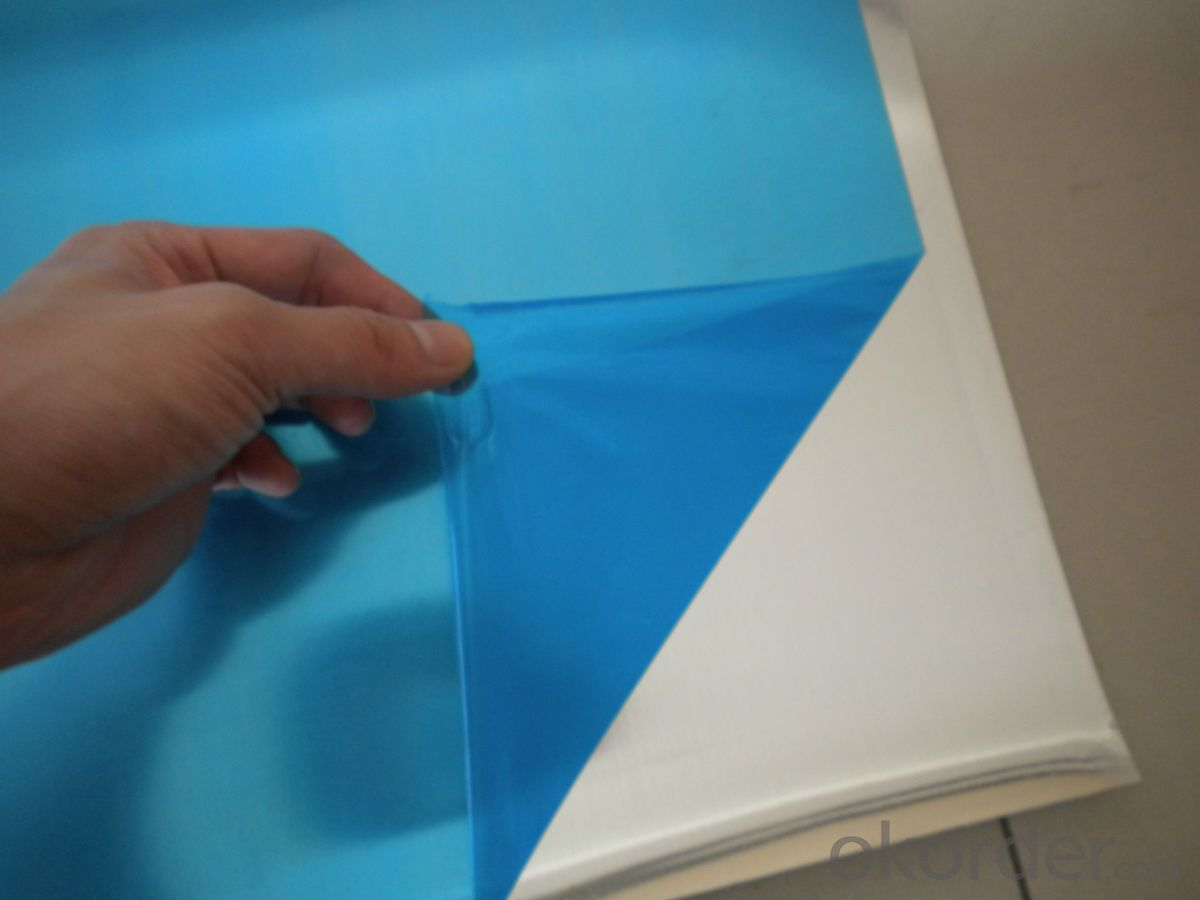 Mill Finished Aluminum Alloy Sheets with  PVC Film