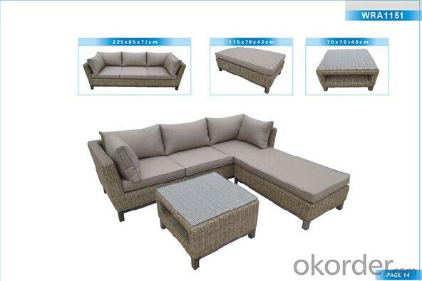 Outdoor Furniture Rattan Sofa CMAX-WRA1151