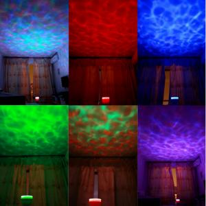 Bluetooth Speaker Oceanwave Night Light Projector for Blue Green