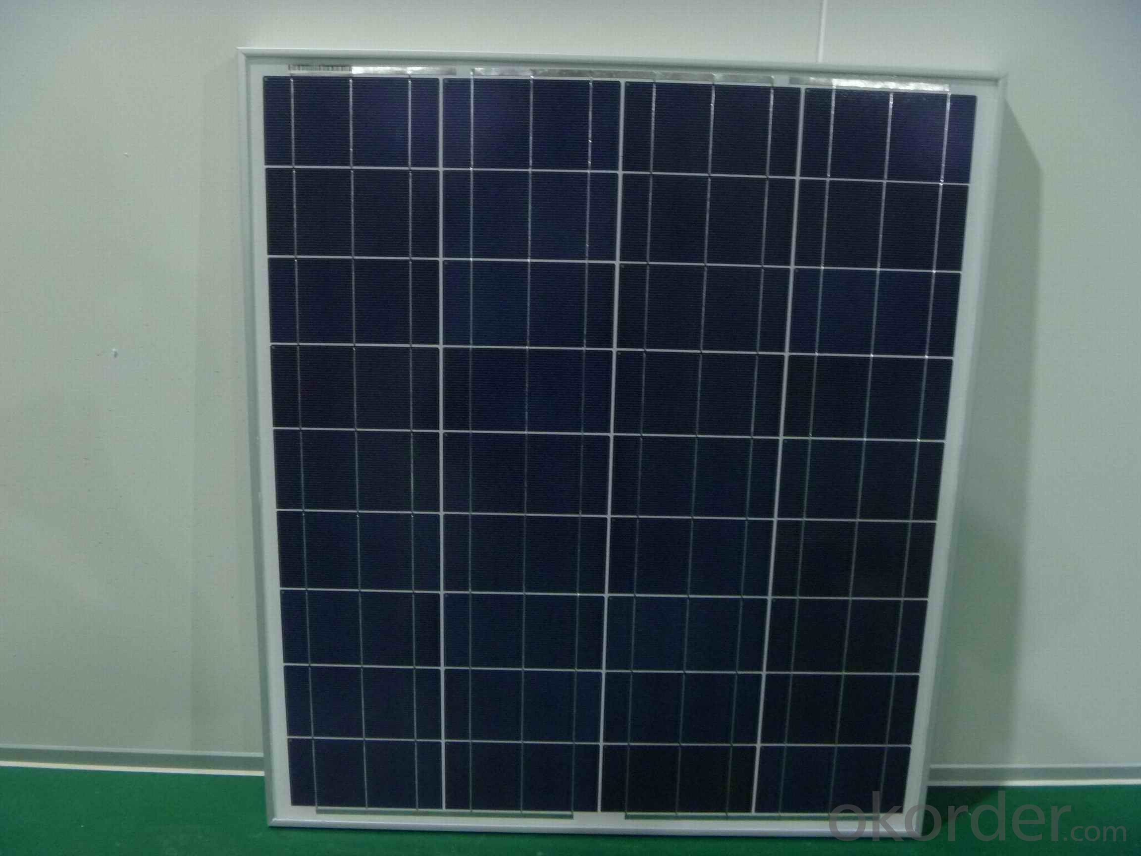 80W Poly Crystalline Solar Panels with Efficiency of 15.4%