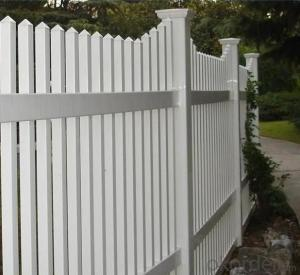 PVC Garden Fence with New Design and High Quality