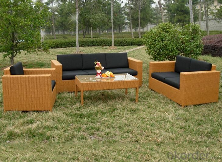 Outdoor PE Wicker/Rattan Sofa CMAX-YHA044