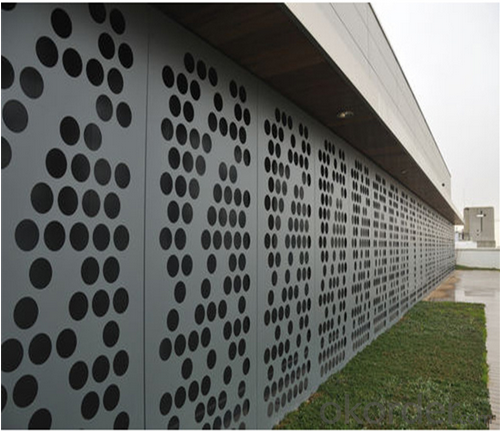 Punched / Perforated Aluminum Panel for Aluminum Wall Facade