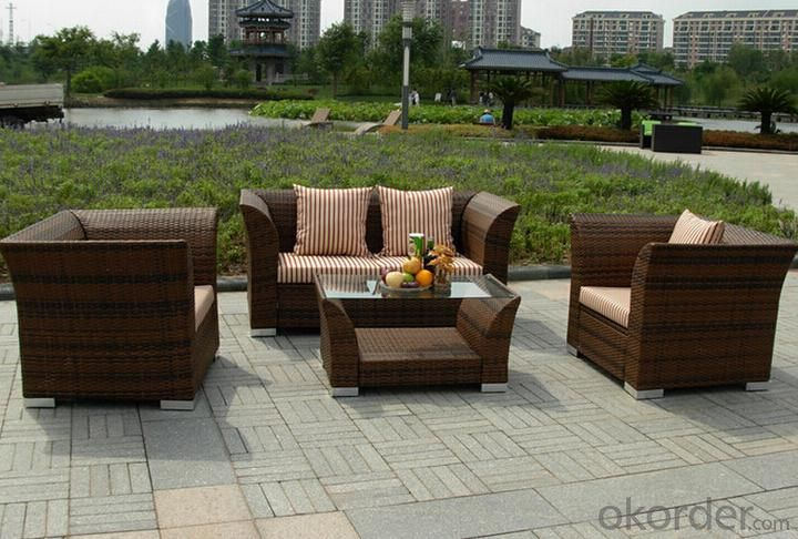 Outdoor PE Wicker/Rattan Sofa CMAX-YHA029