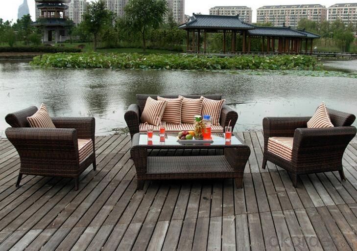Outdoor PE Wicker/Rattan Sofa CMAX-YHA027