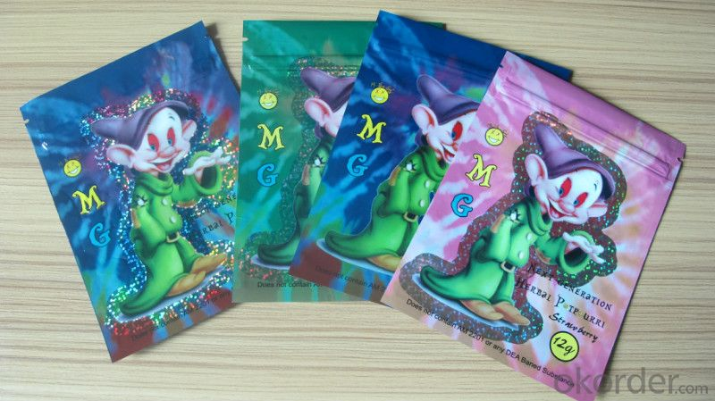 Middle Side Hot Sealing Color Printed Laminated Bags for Packing