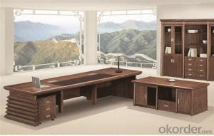 Office Executive Table with Veneer Painting Face