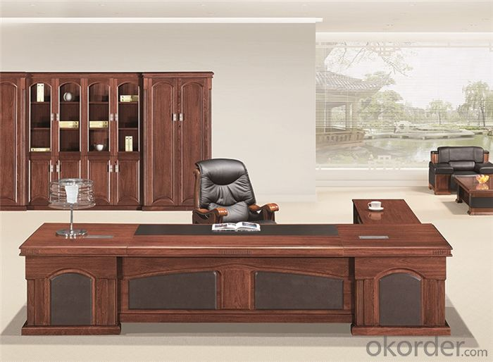 Commercial Desk with Veneer Painting for Manager