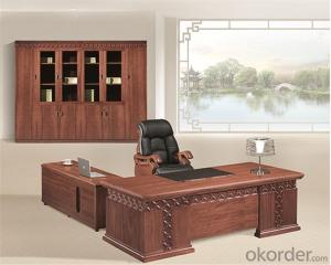 Wooden Executive Table with Veneer Painting