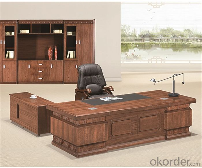 Commercial Workstation with Veneer Painting for Manager