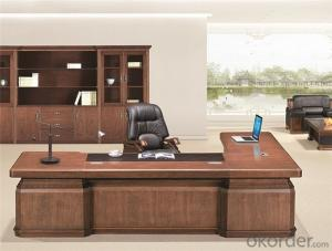 Office Table with Veneer Painting for Manager