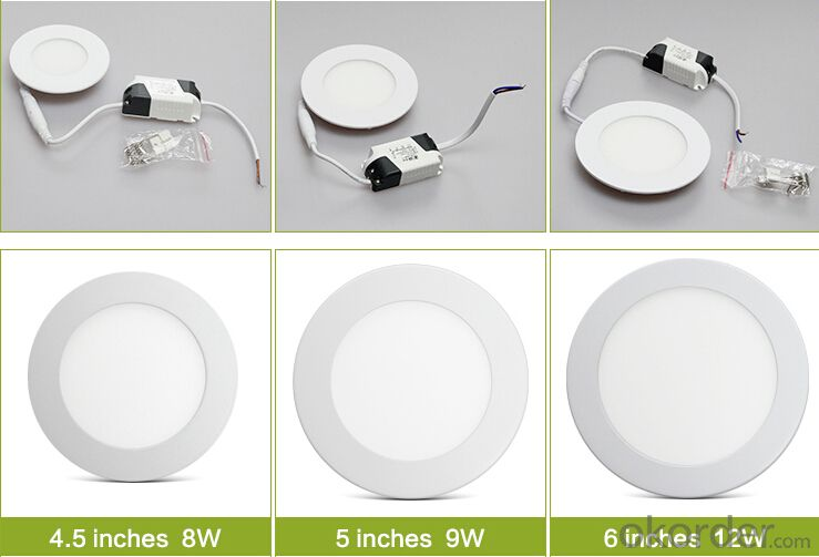 Slim LED Panel Light LED Panel Light Price 3w 4w 6w 9w 12w 15w 18w
