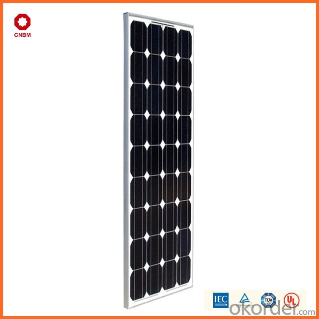 90W Monocrystalline Silicon Solar Module With CE/IEC/TUV/ISO Approval Standard Solar