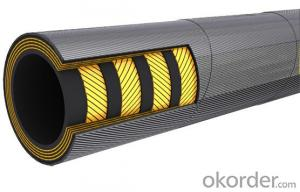 Rubber Hoses with Smooth Surface Engraved Marking Steel Wird Braided Hoses