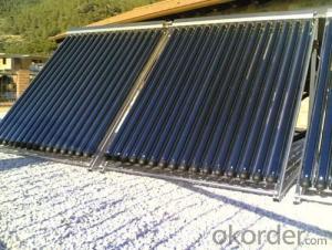 12 Tubes Solar Pipes Solar Collectors EN12975