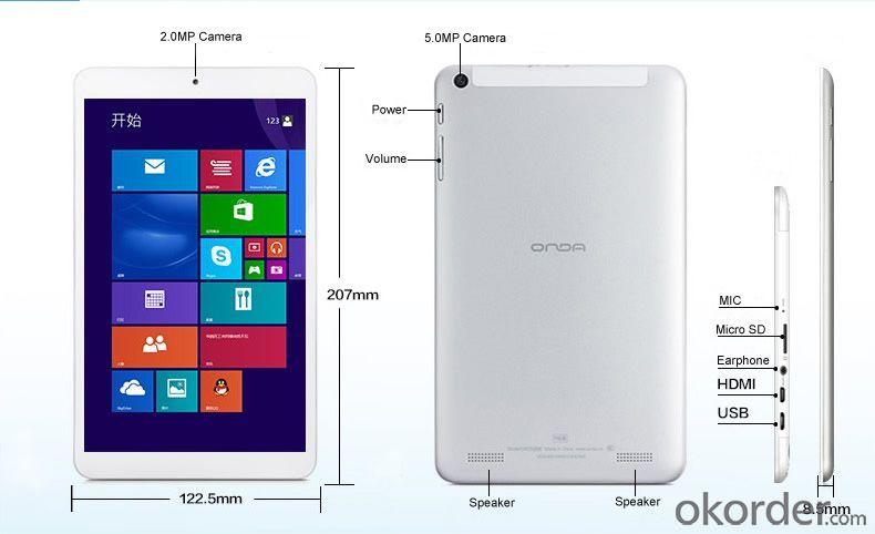 8 Inch Intel Z3735e 64bit Quad Core Win8.1 IPS Tablet PC