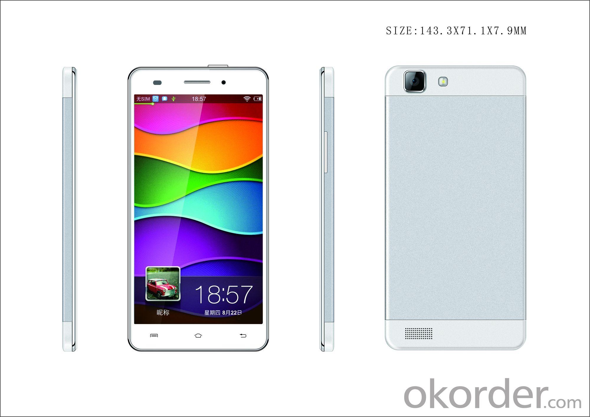 Fingerprint 1GB/8GB Quad Core Smart Mobile Phone