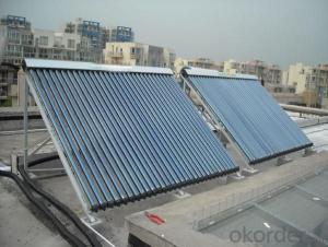 Pressurized Heater Pipe Solar Collectors for Rooftop