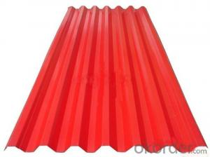 COLORED CORRUGATED METAL SHEET FOR ROOFING