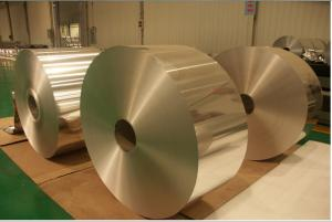 Plain Aluminium Foil Jumbo Roll Raw Material For Household and Kitchen Application